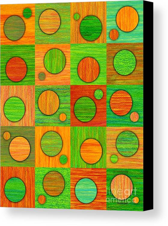Colored Pencil Canvas Print featuring the painting Orange Soup by David K Small