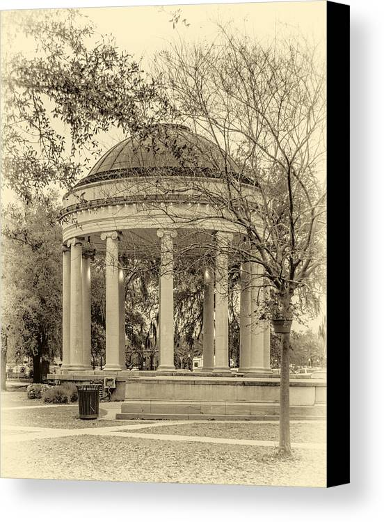 Nola Canvas Print featuring the photograph Popp Bandstand Sepia by Steve Harrington