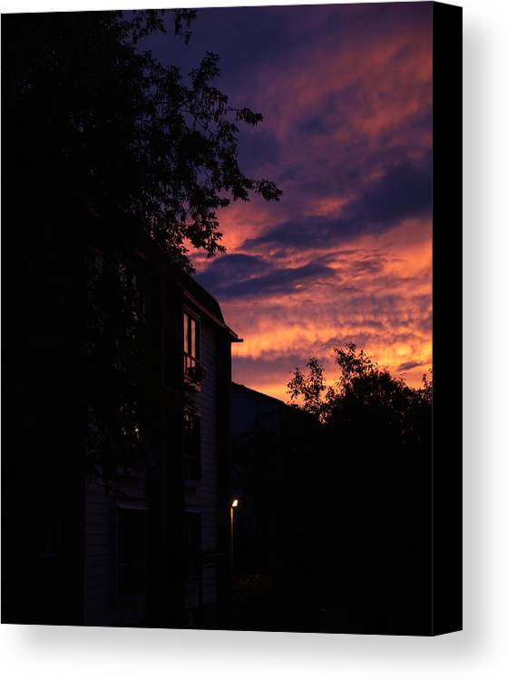 Dusk Canvas Print featuring the photograph Riders Of The Storm by Kellianne Hutchinson