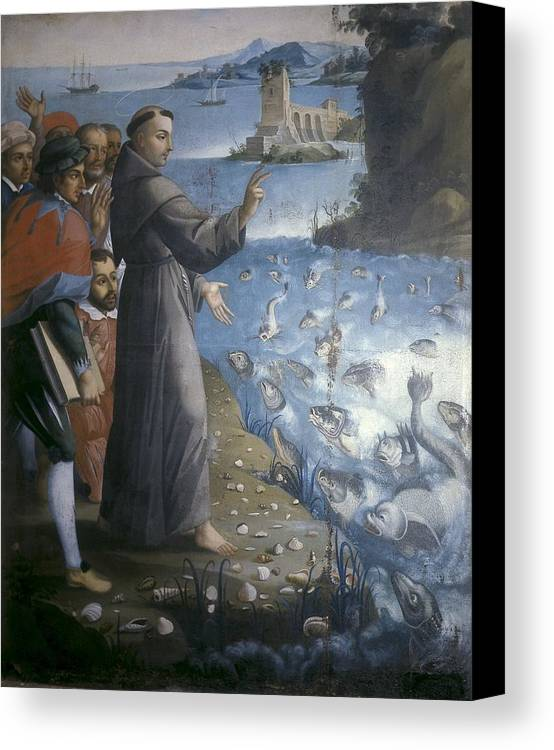 Vertical Canvas Print featuring the photograph Saint Anthony Of Padua Preaching by Everett