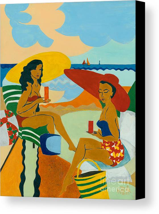 Summer Canvas Print featuring the painting Sizzling Summer by Elisabeta Hermann