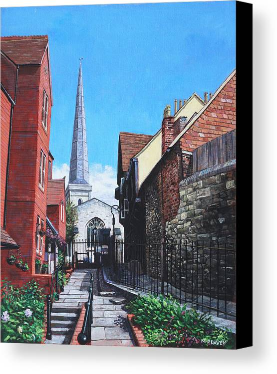 Landscape Canvas Print featuring the painting Southampton Blue Anchor Lane by Martin Davey