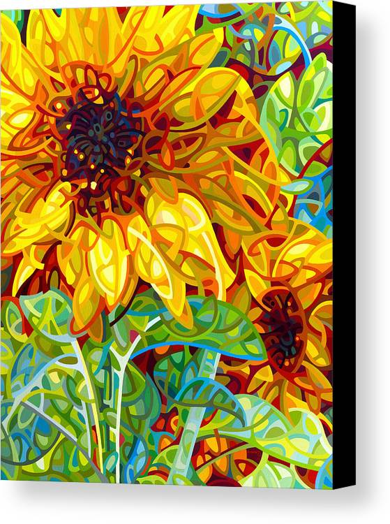 Summer Canvas Print featuring the painting Summer In The Garden by Mandy Budan