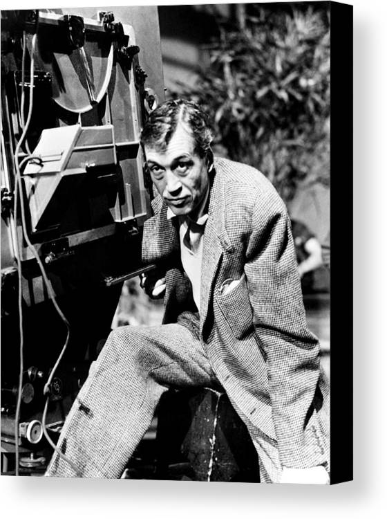1950s Candids Canvas Print featuring the photograph The African Queen, Director John by Everett
