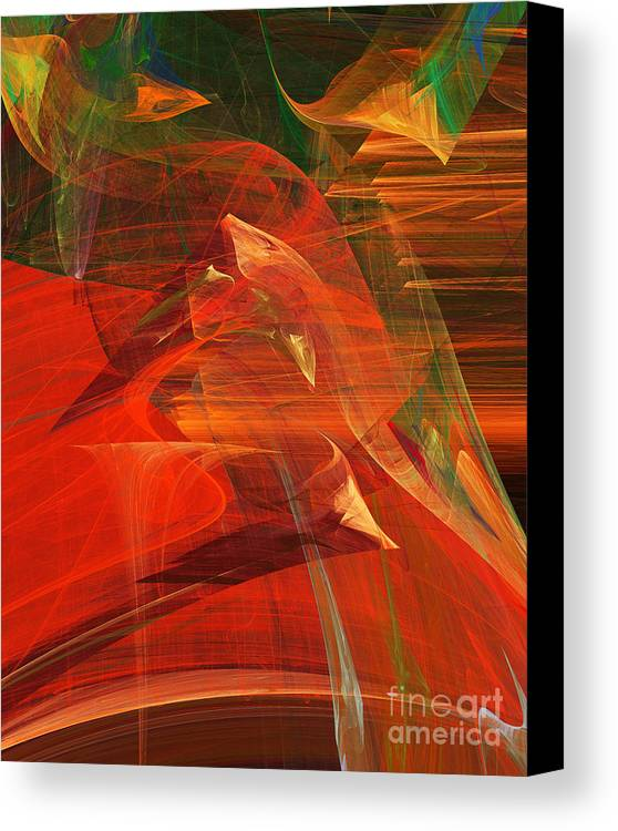 Fractal Canvas Print featuring the digital art The Bird Whisperer . A120423.693 by Wingsdomain Art and Photography