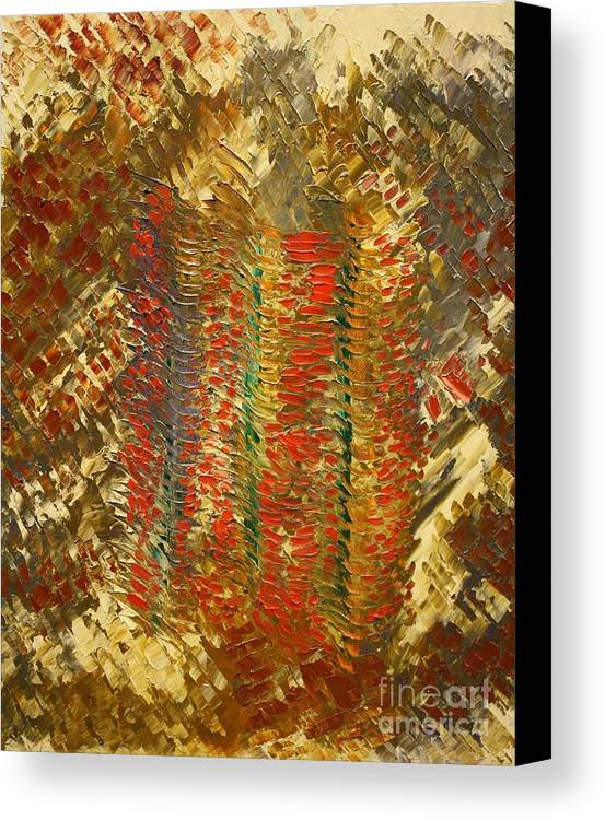 Michael Kulick Canvas Print featuring the painting The Pillars Of Creation by Michael Kulick