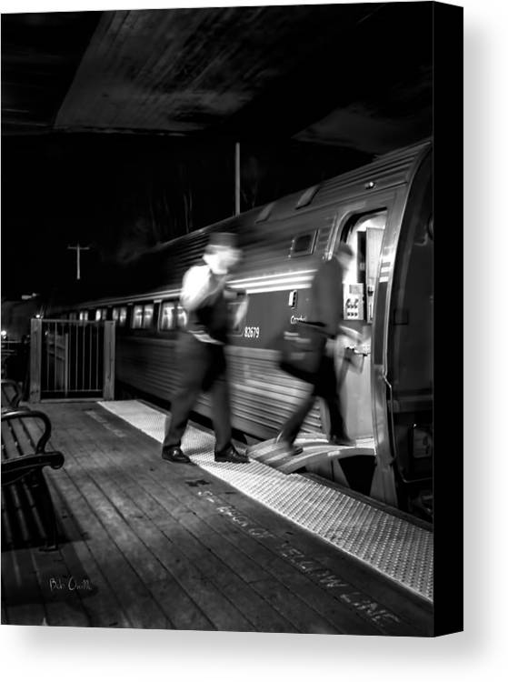 Trains Canvas Print featuring the photograph The Train Conductor by Bob Orsillo