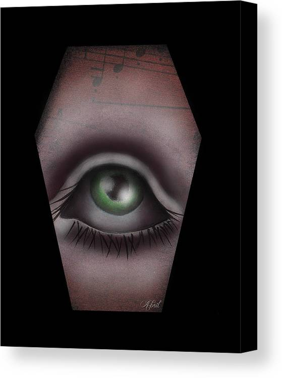 Eye Canvas Print featuring the painting The Window IIi by Abril Andrade Griffith