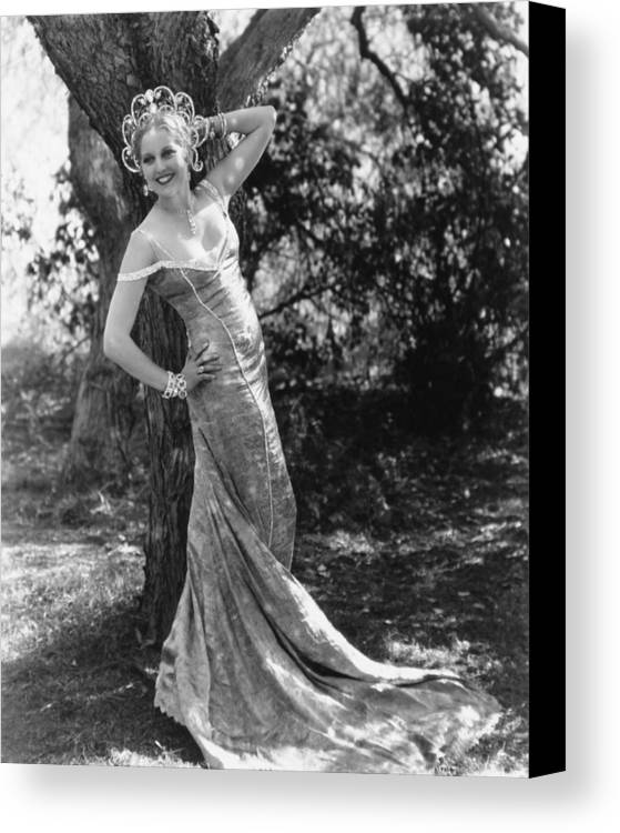 1930s Portraits Canvas Print featuring the photograph Thelma Todd, Ca. 1934 by Everett