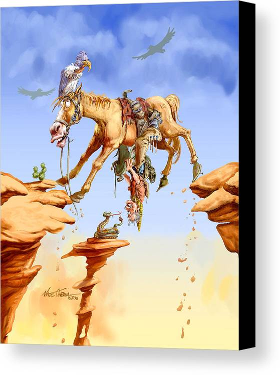 Horse Canvas Print featuring the painting Things Are Looking Up by Nate Owens