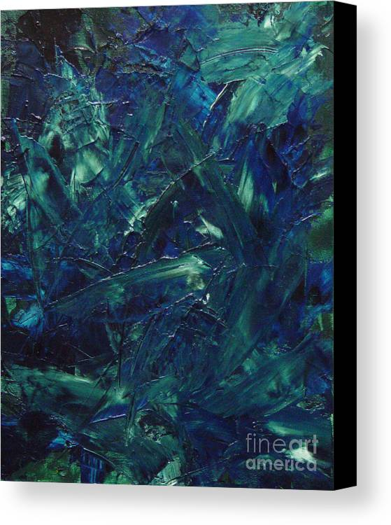 Abstract Canvas Print featuring the painting Transtions Xi by Dean Triolo