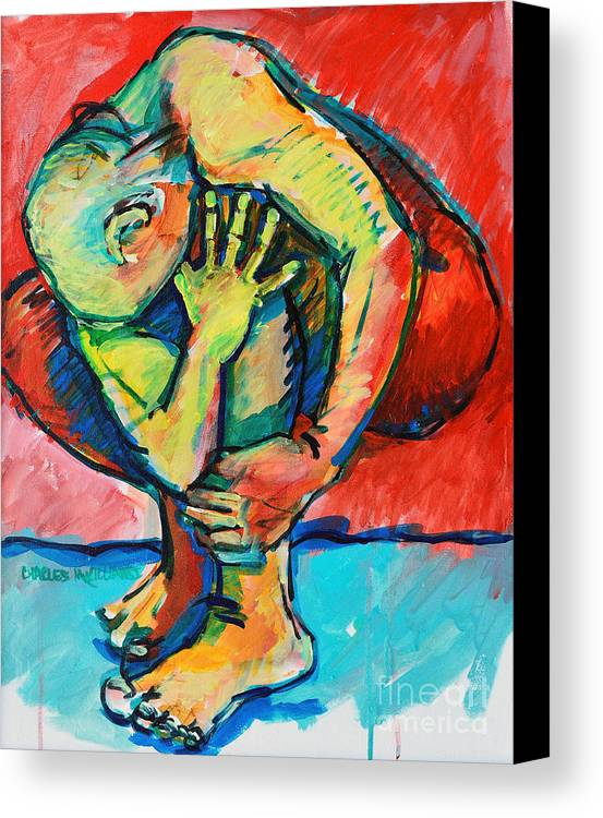 Struggles Canvas Print featuring the painting Trilogy - N My Soul 2 by Charles M Williams