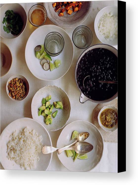 Fruits Canvas Print featuring the photograph Vegetarian Dishes by Romulo Yanes