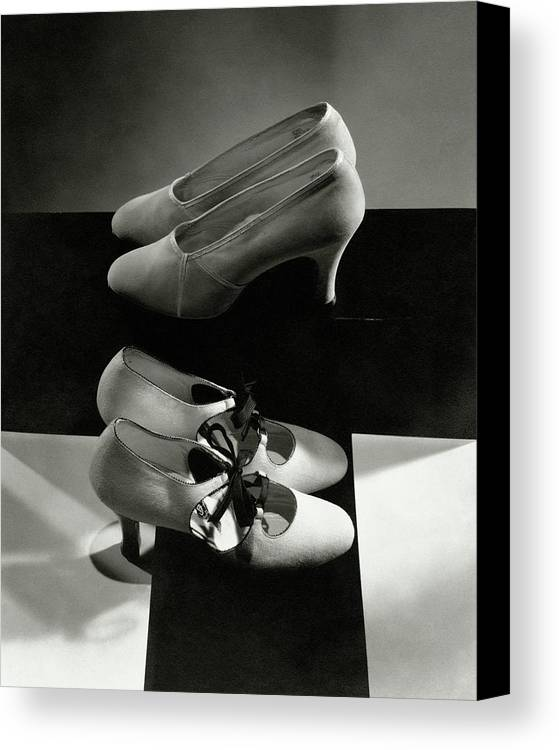 Nobody Canvas Print featuring the photograph Vintage High Heels by Edward Steichen