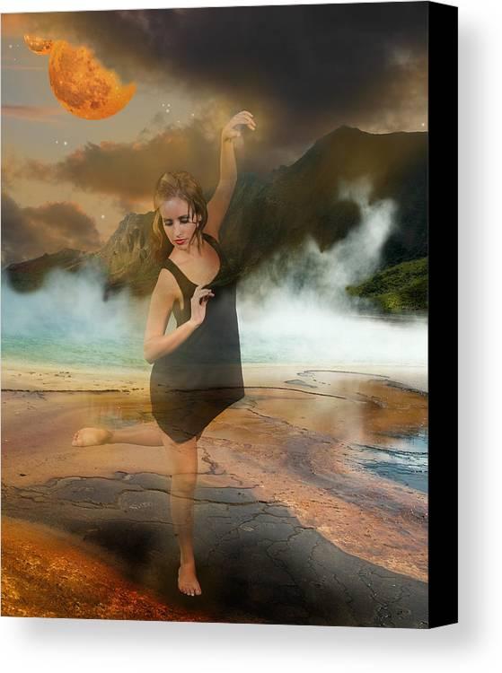 Dancer Canvas Print featuring the digital art Volcano Goddess by Kim Cyprian