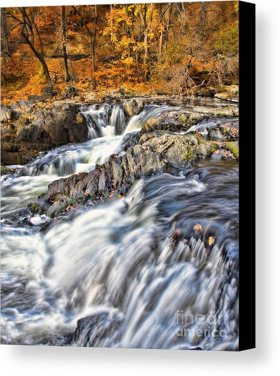 Waterfalls Canvas Print featuring the photograph Waterfalls At Fishkill Creek by Harold Bonacquist