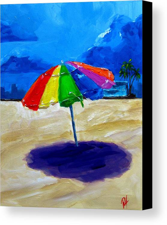 Art Canvas Print featuring the painting We Left The Umbrella Under The Storm by Patricia Awapara