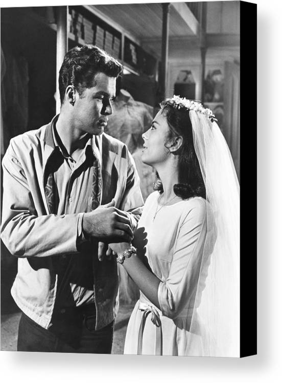1960s Movies Canvas Print featuring the photograph West Side Story, From Left Richard by Everett