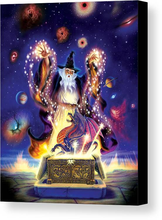 wizard dragon spell canvas print canvas art by andrew farley