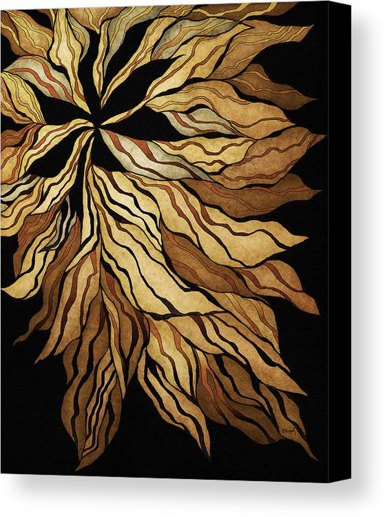 Abstract Canvas Print featuring the painting Zen Blossom by Brenda Bryant