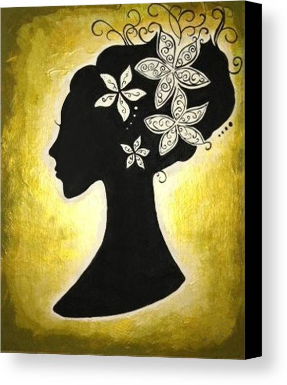 Silhouette Canvas Print featuring the painting Bella Dama by Brandy Nicole Neal