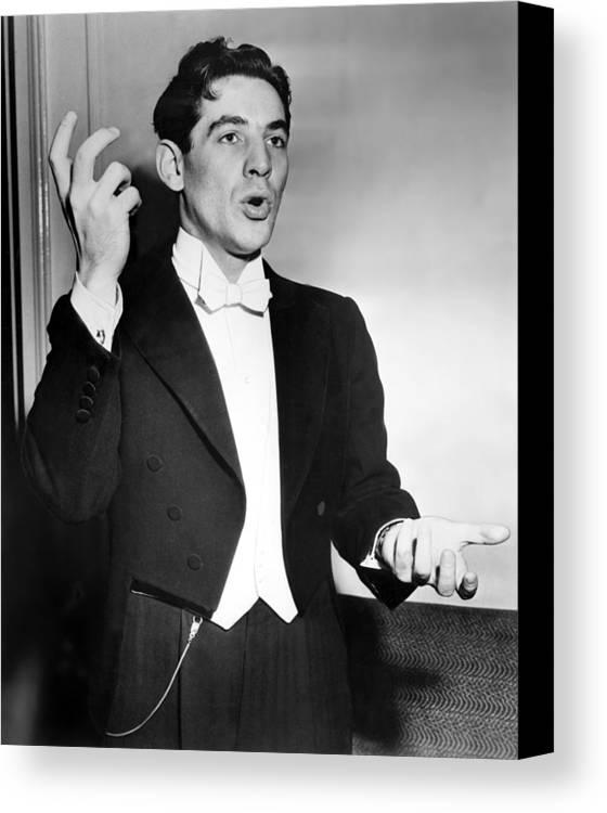 1950s Canvas Print featuring the photograph Leonard Bernstein 1918-1990 American by Everett