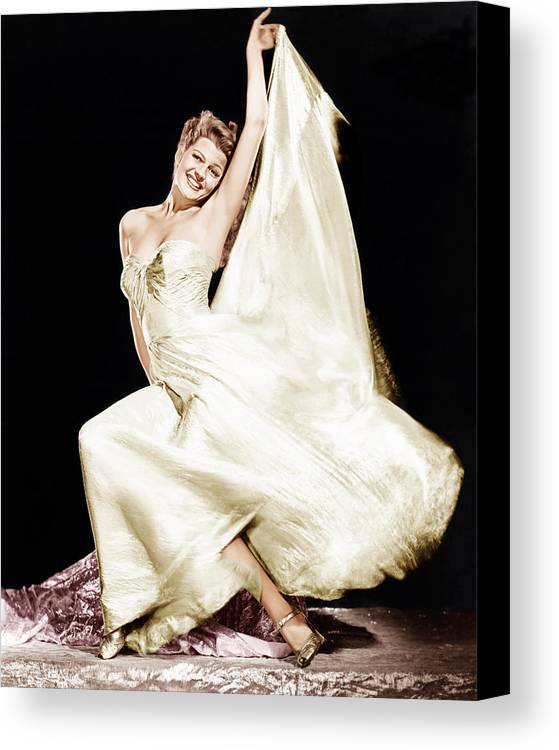 1940s Portraits Canvas Print featuring the photograph Rita Hayworth, 1940s by Everett