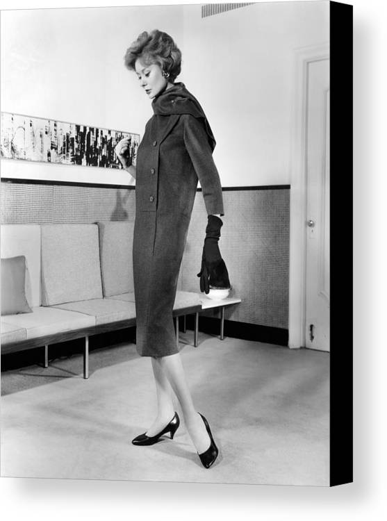 History Canvas Print featuring the photograph Below-the-knee Trapezoid Dress by Everett