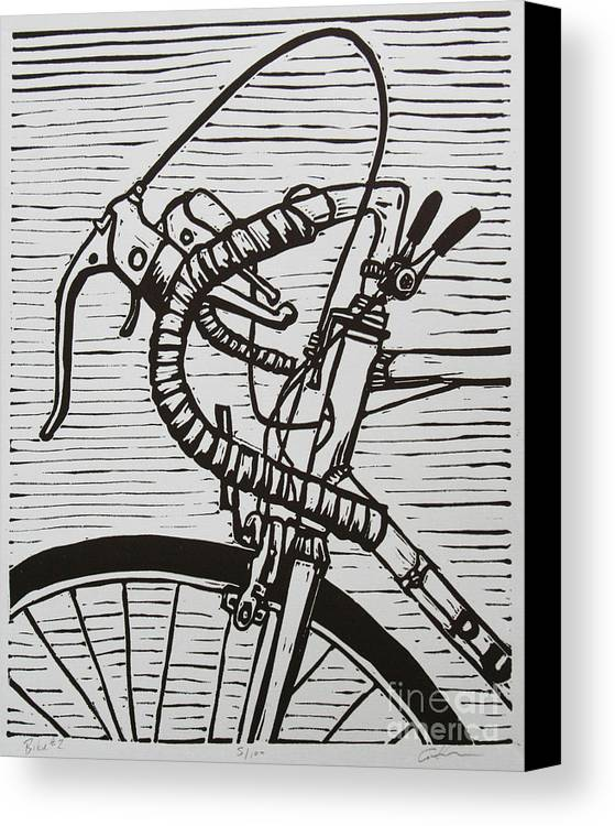 Bike Canvas Print featuring the drawing Bike 2 by William Cauthern