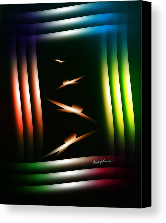 Abstract Canvas Print featuring the digital art Birdhouse by Anthony Caruso