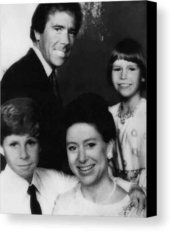 1970s Canvas Print featuring the photograph British Royal Family. Front, From Left by Everett
