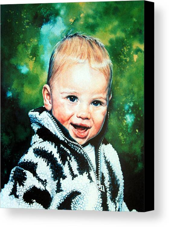 Child Portrait Canvas Print featuring the painting Child Portrait by Hanne Lore Koehler