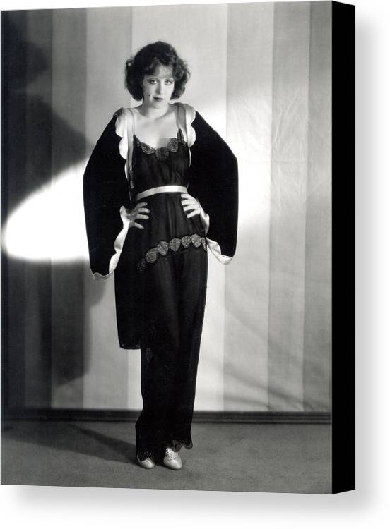 1920s Canvas Print featuring the photograph Clara Bow, Around 1929 by Everett