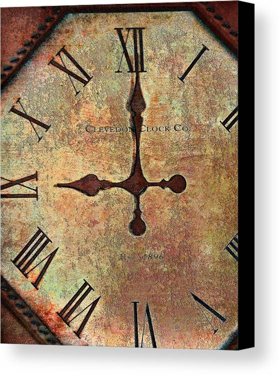 Time Canvas Print featuring the photograph Clevedon Clock by Robert Smith