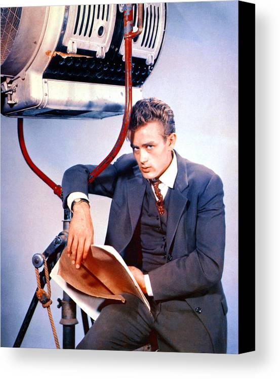 1950s Portraits Canvas Print featuring the photograph East Of Eden, James Dean, 1955 by Everett