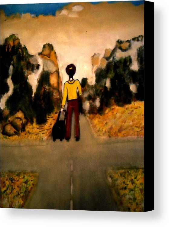Canvas Print featuring the painting Embarkation For Nowhere by Elena Buftea