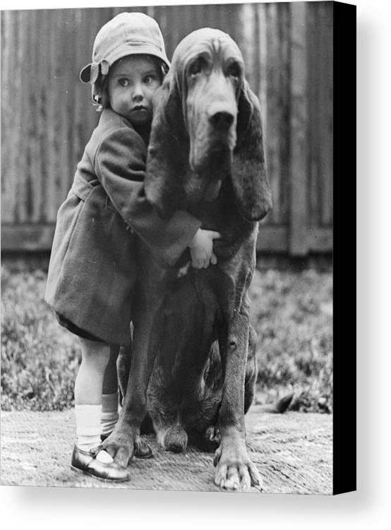 2-3 Years Canvas Print featuring the photograph Girl's Best Friend by William Vanderson