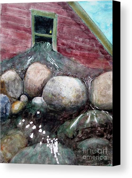 Water Flow Canvas Print featuring the painting Heavenly Release by Will Lewis