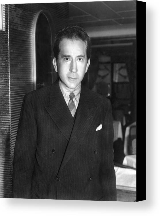 1950s Canvas Print featuring the photograph J. Paul Getty, Ca. 1957 by Everett