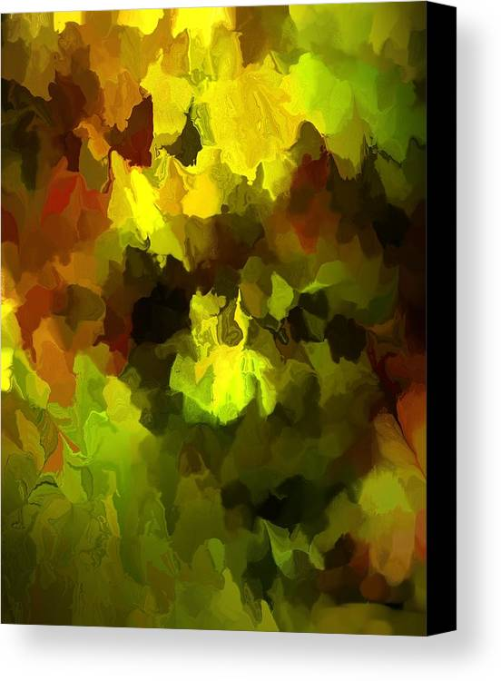Fine Art Canvas Print featuring the digital art Late Summer Nature Abstract by David Lane
