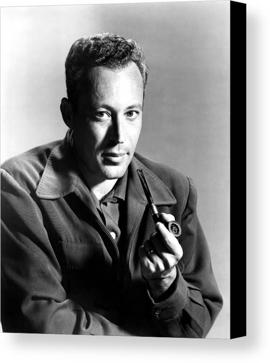 1950s Portraits Canvas Print featuring the photograph Leon Uris, Circa Mid-1950s by Everett