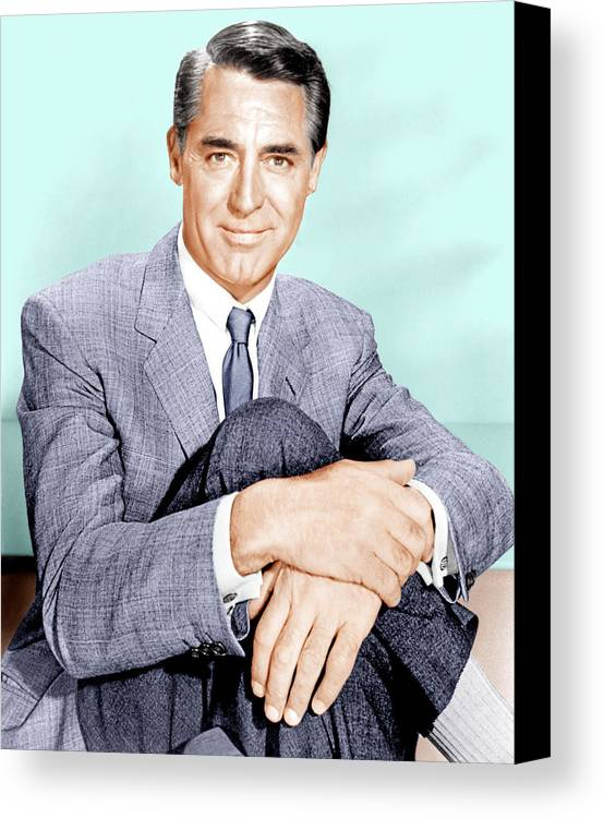 1950s Portraits Canvas Print featuring the photograph North By Northwest, Cary Grant, 1959 by Everett