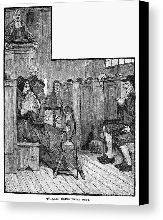 19th Century Canvas Print featuring the photograph Quaker Meeting by Granger