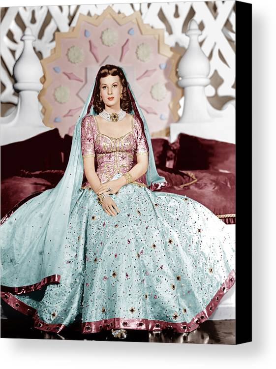 1940s Portraits Canvas Print featuring the photograph Sinbad The Sailor, Maureen Ohara, 1947 by Everett