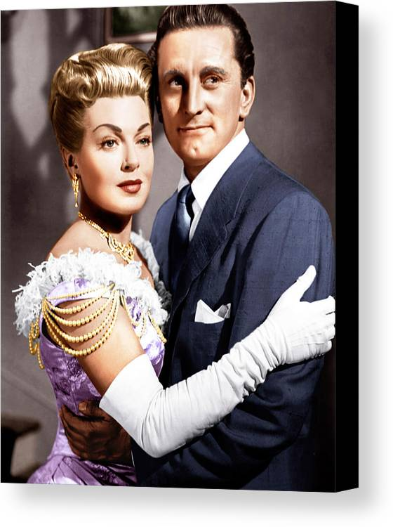 1950s Movies Canvas Print featuring the photograph The Bad And The Beautiful, From Left by Everett