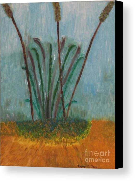 Nature Canvas Print featuring the painting The Bog Pond by Gregory Davis