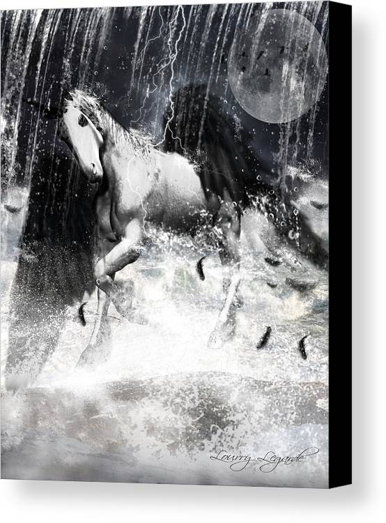 Unicorn Canvas Print featuring the photograph Unicorn's Complexities by Lourry Legarde