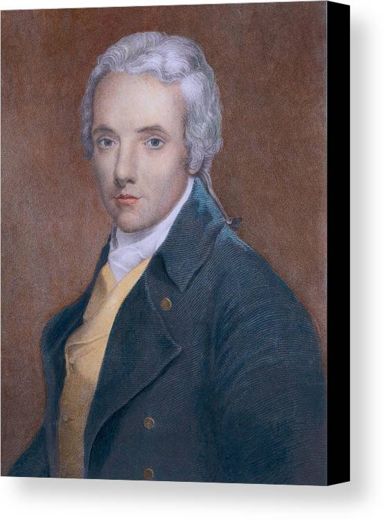 History Canvas Print featuring the photograph William Wilberforce 1759-1833, British by Everett