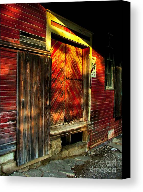Feed Mill Canvas Print featuring the photograph Williams Feed Mill In Williams Indiana by Julie Dant