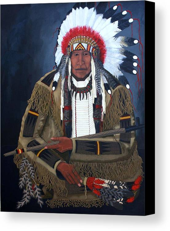 Realism Canvas Print featuring the painting A Time For Peace by Bernard Goodman